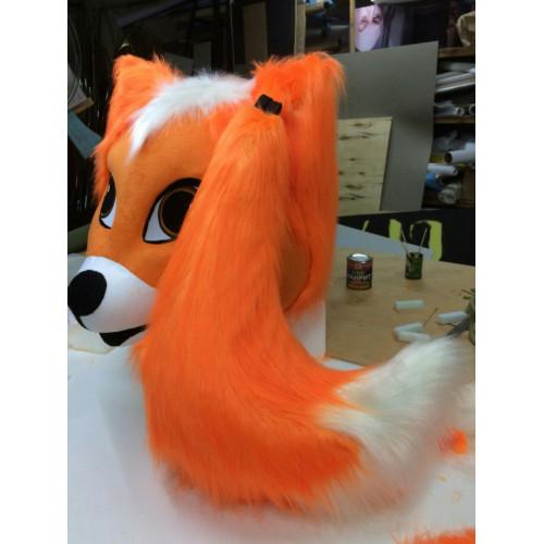 Костюм лисы, голова с хвостом.
