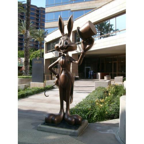 Бронзовая скульптура кролик Бакс Бани