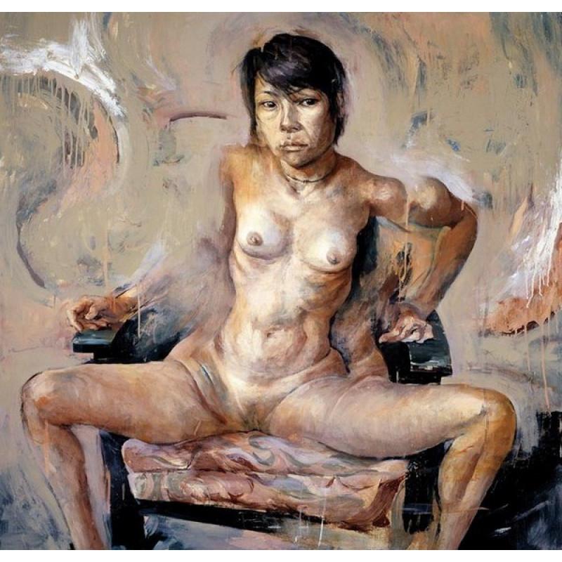 художница рисует голого парня юная