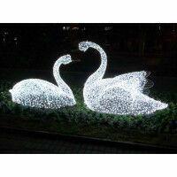 Световая фигура Пара Лебедей