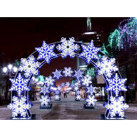 Световая арка со снежинками