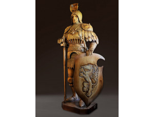 Деревянная скульптура рыцарь ордена тамплиеров